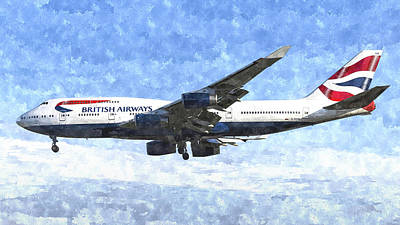 Photograph - British Airways Boeing 747 Art by David Pyatt