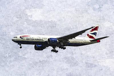Airways Digital Art - British Airways Boeing 777 Art by David Pyatt