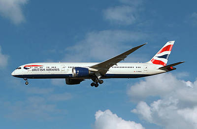 0 Photograph - British Airways Boeing 787-9 Dreamliner by Smart Aviation