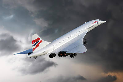 Airways Photograph - British Airways Concorde by Nichola Denny