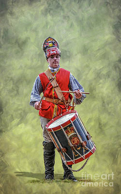 Drum Set Digital Art - British Army Drummer Boy by Randy Steele