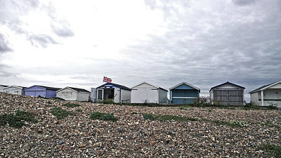 Photograph - British Beach Huts by Anne Kotan