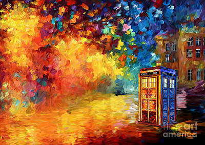British Blue Phone Box Art Print