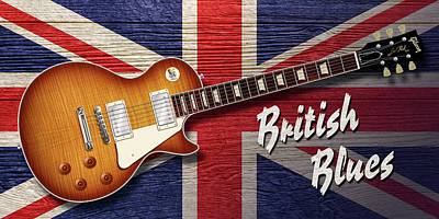 Digital Art - British Blues Les Paul by WB Johnston
