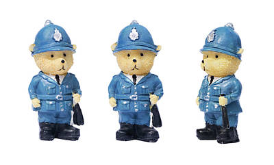 Photograph - British Bobbies by Meirion Matthias