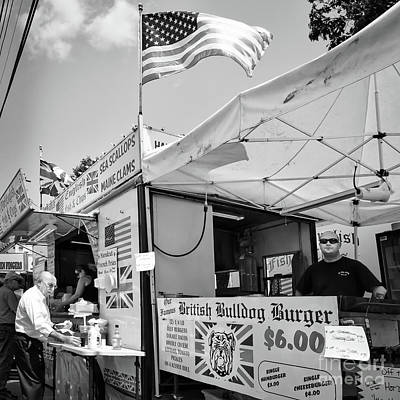Photograph - British Bulldog Burger, Bath, Maine  -56510-bw by John Bald