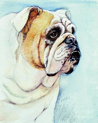 Bulldog Painting - British Bulldog by Morgan Fitzsimons