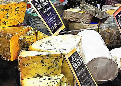 Photograph - British Cheese Selection by Dorothy Berry-Lound