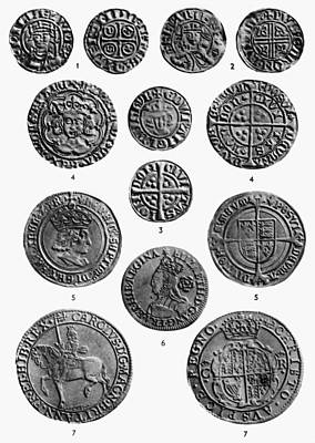 Photograph - British Coins Monarchy by Granger