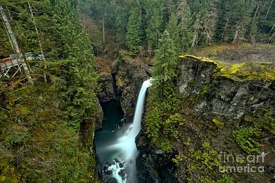 Photograph - British Columbia Rain Forest Waterfall by Adam Jewell