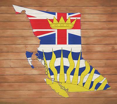 Mixed Media - British Columbia Rustic Map by Dan Sproul