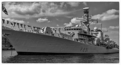Fells Point Baltimore Maryland Photograph - British Frigate Hms Argyll by Jim Archer
