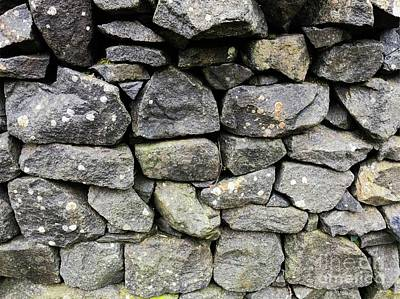 British Dry Stone Wall, Photo By Mary Bassett Art Print by Mary Bassett