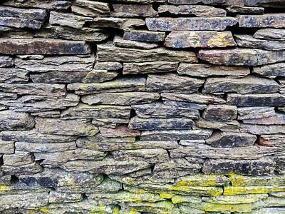 British Dry Stone Wayy, Photo By Mary Bassett Art Print by Mary Bassett