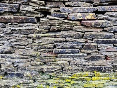 British Dry Stone Wayy, Photo By Mary Bassett Art Print by Mary Bassett