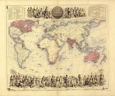 British Empire World Map, 19th Century Art Print by Library Of Congress