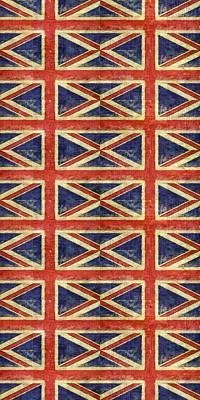 Symbolic Patterns Digital Art - British Flag Collage One by Michelle Calkins