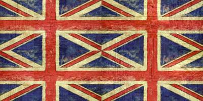 Digital Art - British Flag Collage Two by Michelle Calkins