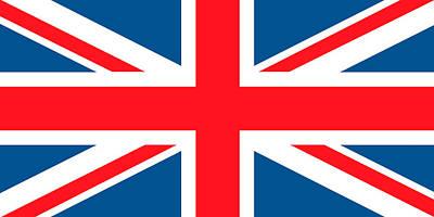 Painting - British Flag by English School