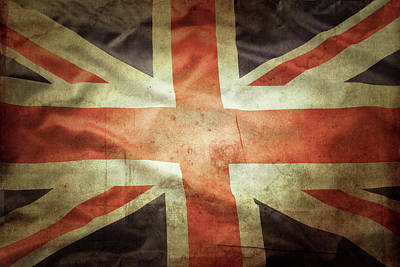 Photograph - British Flag by Les Cunliffe