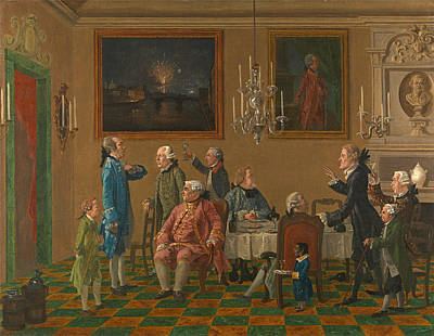 Painting - British Gentlemen At Sir Horace Mann's Home In Florence by Thomas Patch