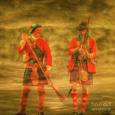 Digital Art - British Highlanders 1763 by Randy Steele