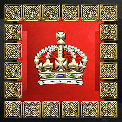 Digital Art - British Imperial Crown - Tudor Crown  by Serge Averbukh
