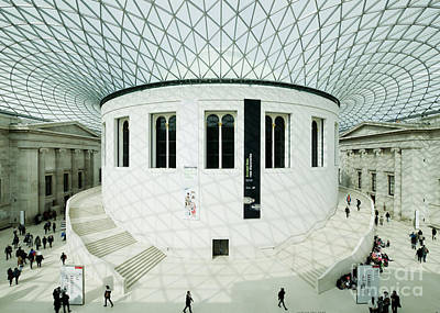Photograph - British Museum Great Court by Chris Dutton