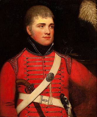 Painting - British Officer In Red Uniform by Celestial Images
