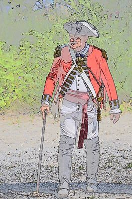 Redcoat Digital Art - British Officer by Robert Nelson