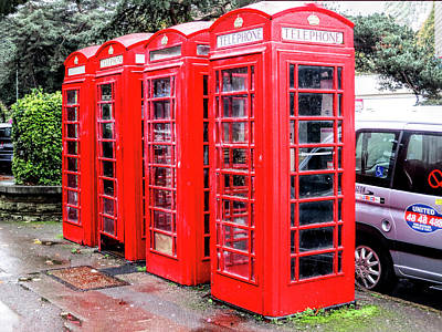 Photograph - British Phone Booths No 2 by Phyllis Taylor