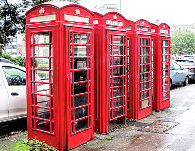 Photograph - British Phone Booths by Phyllis Taylor