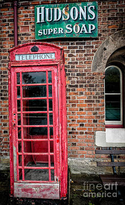 Abandoned Digital Art - British Phone Box by Adrian Evans