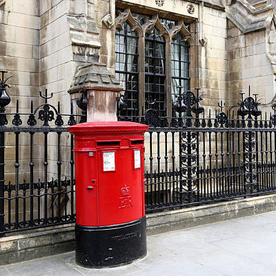Photograph - British Post Box 1 by Andrew Fare