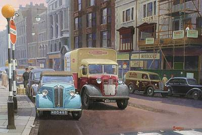 Streetscenes Painting - British Railways Austin K2 by Mike  Jeffries