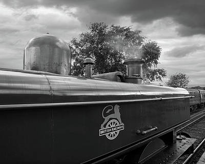 Photograph - British Railways Steam Train Mono by Gill Billington