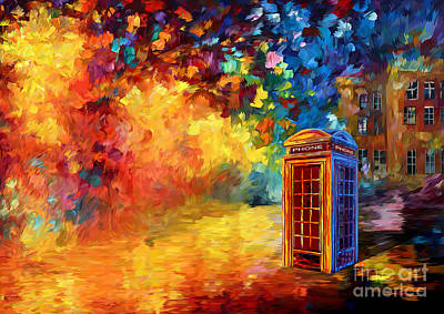 Fandom Digital Art - British Red Phone Box by Three Second