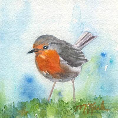 Painting - British Robin by Marsha Karle