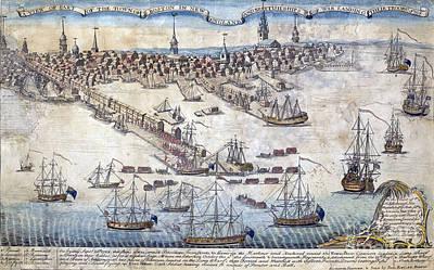 British Ships Of War, Landing Troops Art Print by Science Source