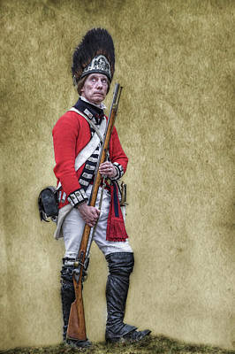 Seven Years War Digital Art - British Soldier American Revolution by Randy Steele