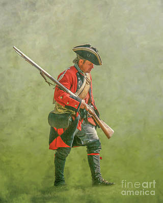 Digital Art - British Soldier French And Indian War by Randy Steele