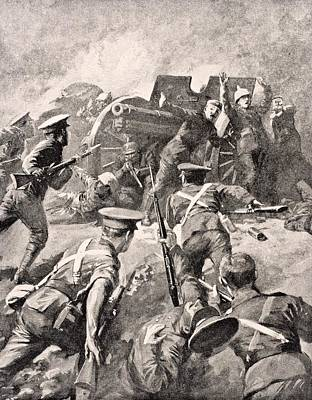 British Soldiers Bayonet Charge German Art Print by Vintage Design Pics