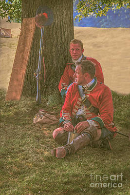 Historical Digital Art - British Soldiers In Camp by Randy Steele