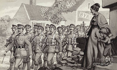 Long Rifle Painting - British Soldiers Marching by Pat Nicolle