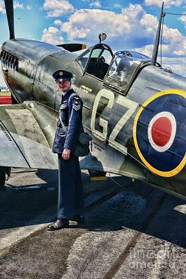 Photograph - British Spitfire And Pilot by Paul Ward