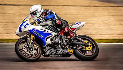 Photograph - British Superbike - Hdr by David Warrington