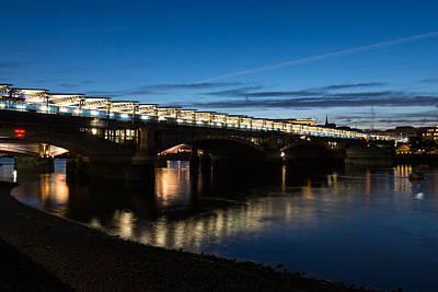 Photograph - British Symbols And Landmarks - Blackfriars Railway Bridge In London England by Georgia Mizuleva