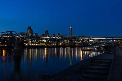 Photograph - British Symbols And Landmarks - Millennium Bridge And Thames River At Low Tide by Georgia Mizuleva