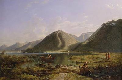 Lake Geneva Painting - British Title End Of Lake Geneva by Francis Danby