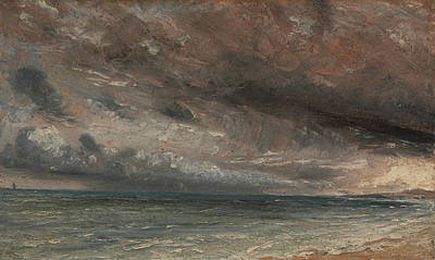 Stormy Painting - British Title Stormy Sea by John Constable